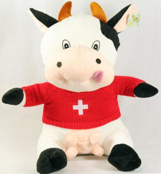 Plüsch Kuh mit rotem CH-Shirt