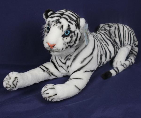 Plüsch Tiger 56cm weiss liegend