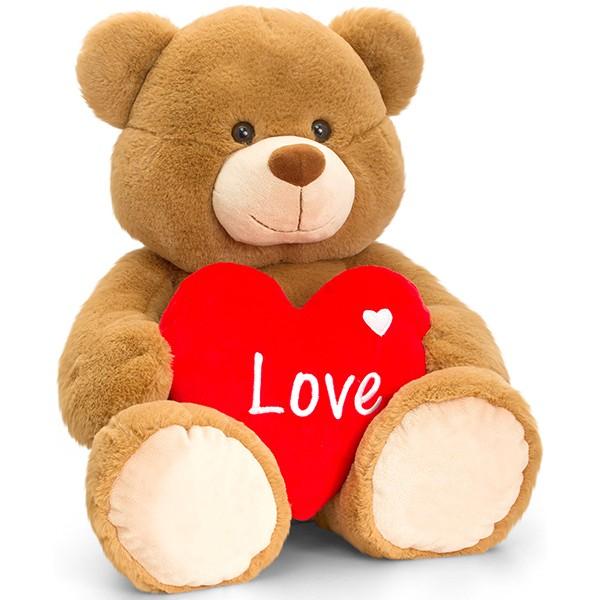 Brown Bertie Bär mit Herz 75cm