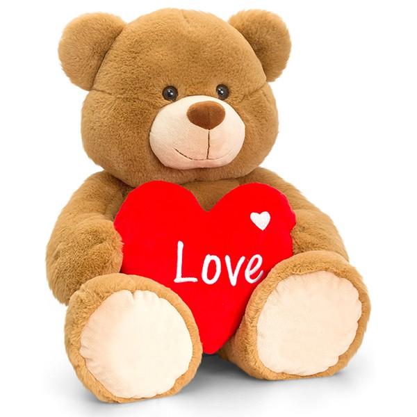 Brown Bertie Bär mit Herz 25cm