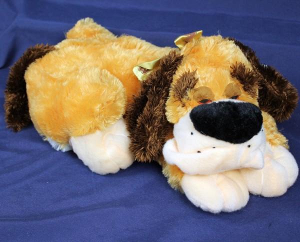 Plüsch Hund liegend 45cm