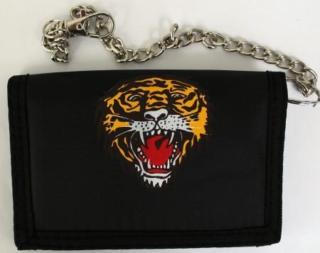 Klettbörse mit Kette Tiger