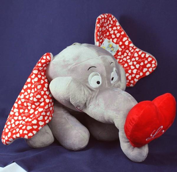 Plüsch Elefant mit Herz