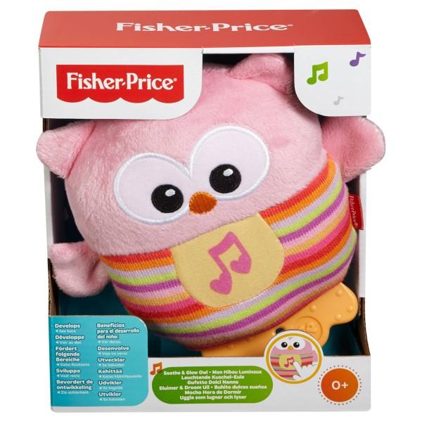 FISHER PRICE Leuchtende Kuscheleule pink
