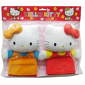 Hello Kitty und Mimmy Handpuppen